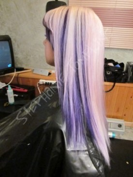 blonde and purple color