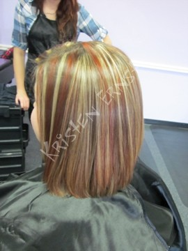 blonde and red foils
